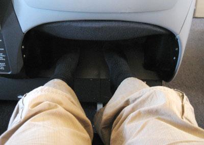足のスペース