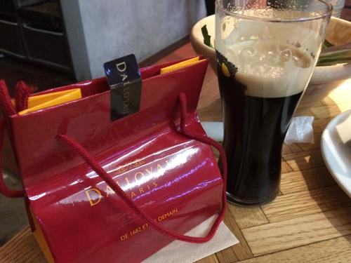 チョコとビール